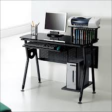 Metal And Glass Computer Desks Black Metal And Glass Computer Desk With Cd Racks Mdtst F1073cd