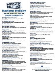 hastings holiday shopping guide