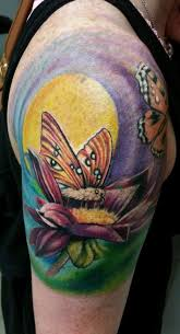 butterfly half sleeve by in loving memory of chris chieco tattoonow