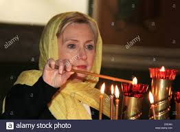 us secretary of state hillary rodham clinton lights a candle in