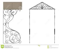 wrought iron canopy royalty free stock photography image 34738807