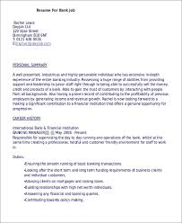 job resume examples 8 free word pdf format download free