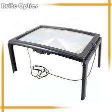 led lighted desk magnifying l desk type led lighted magnifying glass big lens illuminated 3x