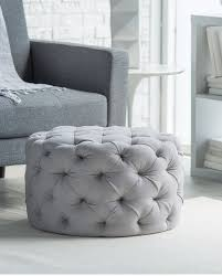 round dressing room ottoman allover tufted round ottoman in gray sale 99 beautiful rooms