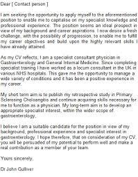 doctor cover letters