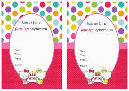 incredible kitty 1st birthday invitations inexpensive