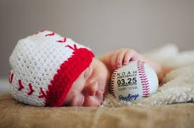 personalized baseball birth announcement baby boys gift