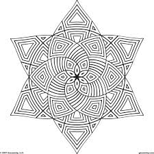 free printable mandala coloring pages at geometric shapes eson me