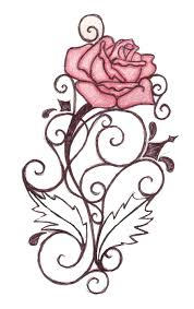 gothic cross red roses vines tattoo design in 2017 real photo