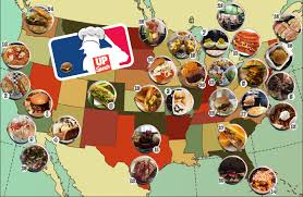 Petco Park Map A Delicious Map Of The Best Foods In Major League Baseball Stadiums