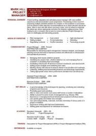 Project Resume Download Project Manager Resume Templates Haadyaooverbayresort Com