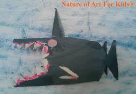 kids craft ideas u2013 free paper roll shark painting project