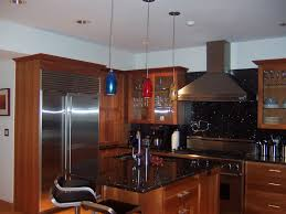 modern pendant lamp for kitchen lighting with brown wooden kitchen