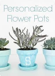 personalized flower pot painted flower pots a diy gift idea lovely etc