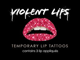 lip tattoo design the red glitteratti violent lips