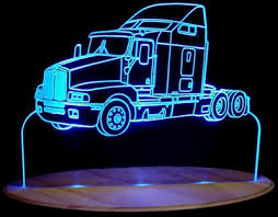 led lights for semi trucks semi truck kenworth acrylic lighted edge lit led sign light up