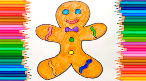 gingerbreadman coloring page how to coloring gingerbread man coloring pages for kids youtube