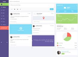 todo web application admin panel template user interfaces u0026 ux