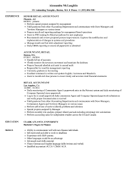 exle resume for retail retail accountant resume sles velvet