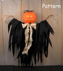 pdf e pattern 45 halloween pumpkin spirit hanging doll