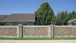 Fence Panels Products  StoneTree Fencing Panels Fences - Brick wall fence designs