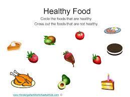 healthy food worksheets for preschool google search education