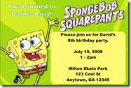 personalized spongebob invitations archives