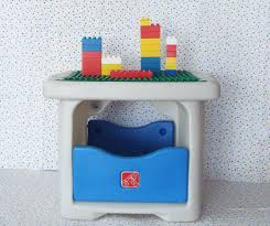 duplo table with storage step 2 duplo mega bloks or tyco block building block table