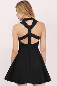 trendy black skater dress cut out dress skater dress 19