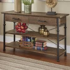 Driftwood Sofa Table by Rustic Console U0026 Sofa Tables You U0027ll Love Wayfair
