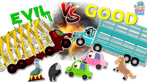 kids halloween clipart animal transport truck war good vs evil scary heavy vehicles