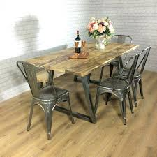 bar height table industrial diy table with pipe legs medium size of wood dining table industrial