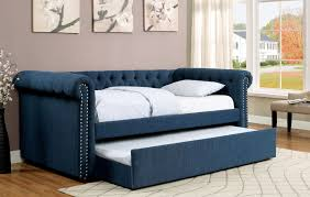 leanna teal twin size bed cm1027 furniture of america daybeds at