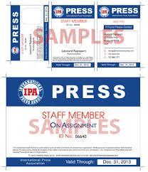 benefits of membership free press cards international press