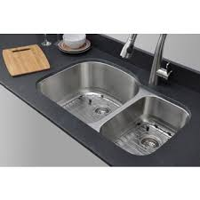 30 inch undermount double kitchen sink wells sinkware 16 gauge 70 30 32 inch double bowl undermount