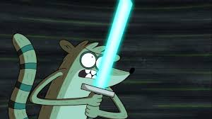 regular show image rigby with a lightsaber regular show the movie jpg