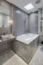 Traditional Vanity Lights London Crackled Subway Tile Bathroom Eclectic With Marble Basin
