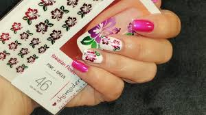hawiian flower nail art how to dress up she modern nail art