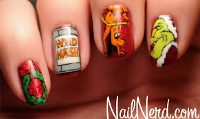 nail nerd nail art for nerds dr seuss u0027 how the grinch stole