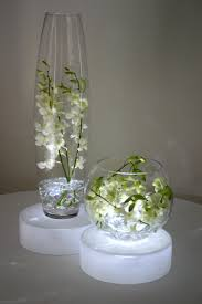 Lights In Vase Light Boxes Under The Centerpieces My Wedding Pinterest