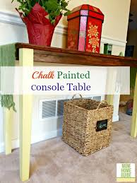 Yellow Console Table Annie Sloan Chalk Paint Console Table