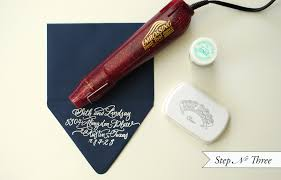 diy embossed custom stationery