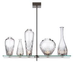 cicatrices de luxe pendant light with leaded crystal vases