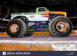 new monster jam trucks new orleans la usa 20th feb 2016 storm damage monster truck