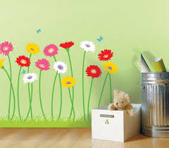 Artistic Flower Wall Mural Design For Girls Room Can I Do This - Flower designs for bedroom walls