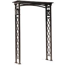 lowes wedding arches shop garden treasures 52 75 in w x 79 92 in h brown vaulted garden