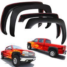 Chevy Silverado Truck Parts - fender flares for chevy silverado 99 06 set of 4 paintable matte