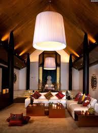 Wohnideen Asiatischen Stil Ferienhaus Thailand Exotisches Wohnzimmer Buddha Figur Sitzecke