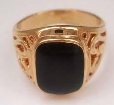men s ring size men s ring size 8 11 free shipping black onyx 18k gp yellow gold