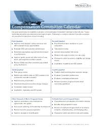 Risk Control Consultant Compensation Committee Calendar Meridian Compensation Partners